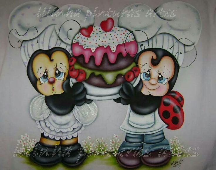 Joaninha e abelhinha - Lilinha Pinturas