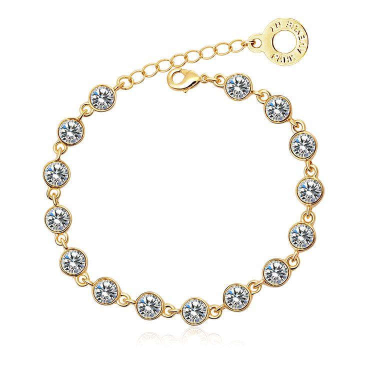 Park Avenue Armband, 750 gelb vergoldet, Swarovski Crystals Jetzt bestellen unter: https://mode.ladendirekt.de/damen/schmuck/armbaender/goldarmbaender/?uid=f09d8a6d-912f-59ce-a174-80fa6da2de02&utm_source=pinterest&utm_medium=pin&utm_campaign=boards #schmuck #goldarmbaender #armbaender #bekleidung Bild Quelle: brands4friends.de