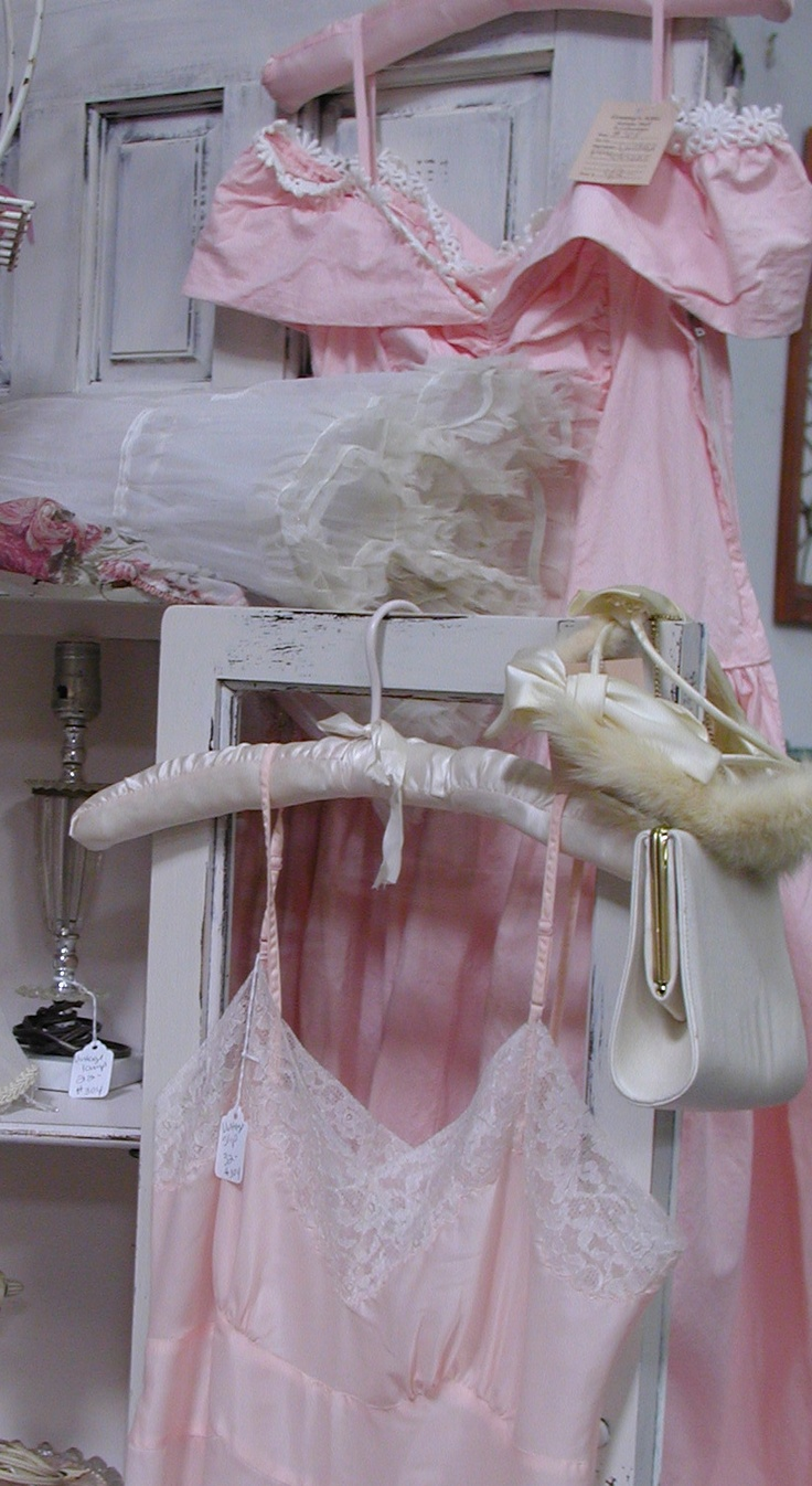 """""""Granny's Antique Mall"""" Temecula,CA.  Nancy of """"Touched by Time""""   pink wall space: Pink Dreams, Shabby Pink, Hanging Pretty, Vintage Shabby, Shabby Chic, Soft Pink, Girly Things, Pink Wall, Girly Girl"""