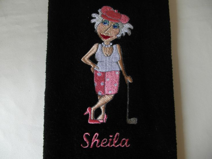 A personal favorite from my Etsy shop https://www.etsy.com/listing/234243443/personalized-golf-towel-embroidered-golf