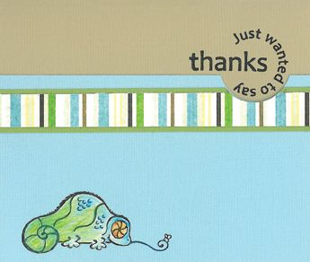 Stamp-it Australia: 4279D Chameleon, 4337C Say Thanks - Card by Susan
