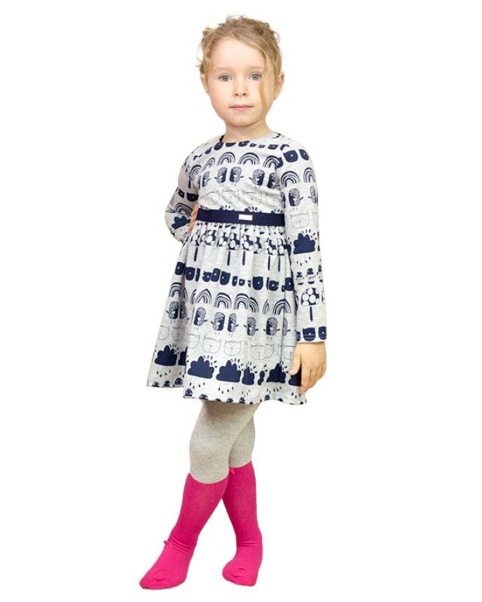 Świetna casualowa sukienka dla dziewczynki o ciekawym wzorze. Do szkoły, na podwórko i nie tylko. Polecamy! | Cena: 66,00 zł