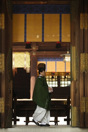Shinto Priest in Japan