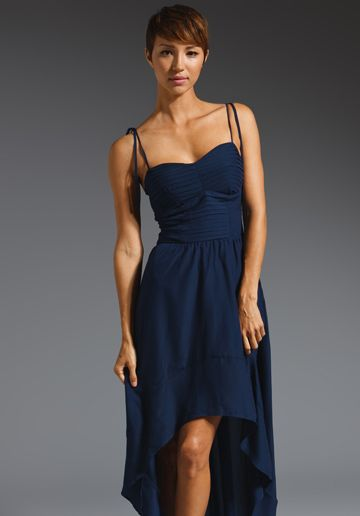 Patterson J. Kincaid Rynn High Low Dress in Navy
