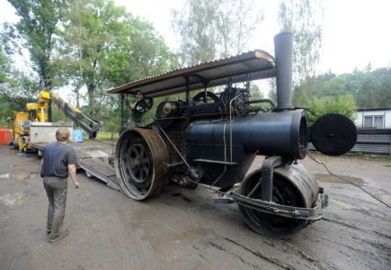 V Žamberku na Orlickoústecku vzniklo v areálu původní textilní továrny Vonwiller díky úsilí soukromých majitelů Muzeum starých strojů a technologií. Na snímku z 12. září je jeden z exponátů, parní válec.