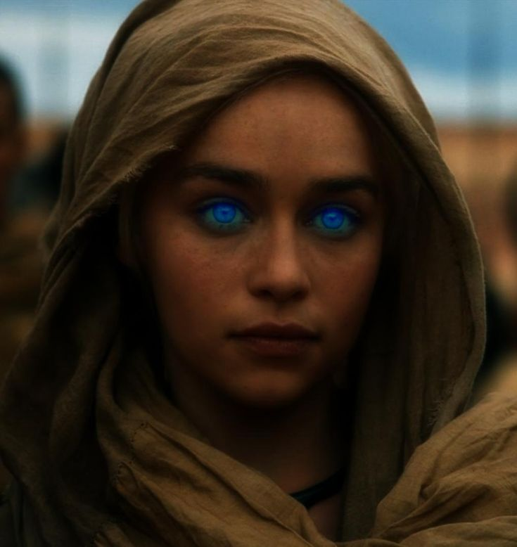 Dune - Emilia Clarke (Khaleesi on Game of Thrones) as Fremen or perhaps as Alia Atreides? - artist unknown