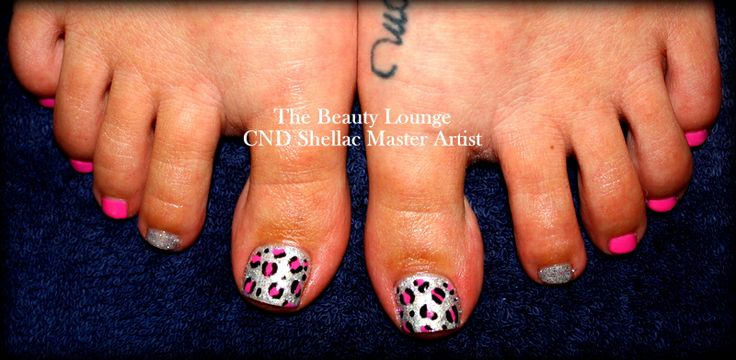 Shellac Toes Animal Print  https://www.facebook.com/TheBeautyLoungeSalcombe