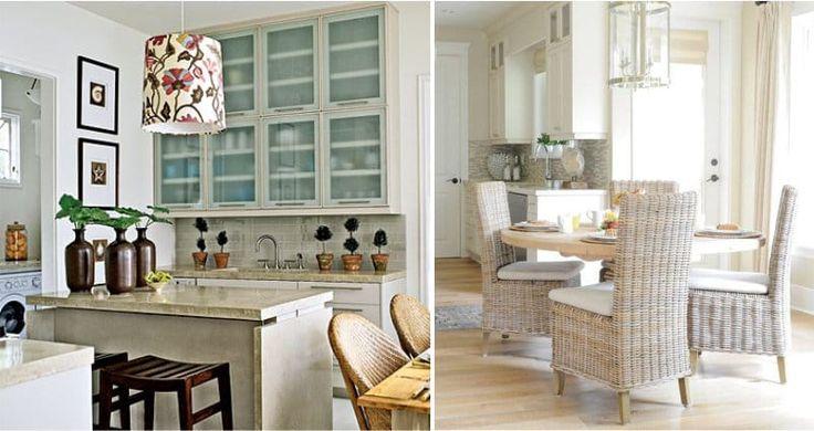 Бежевые интерьеры кухонь в средиземноморском стиле