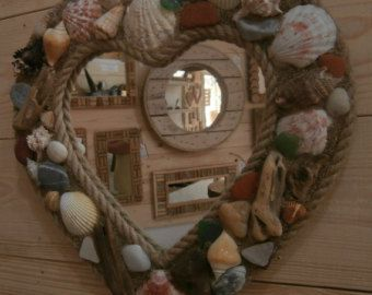 Cable Reel Mirror Upcycled by DriftwoodArtSkiathos on Etsy