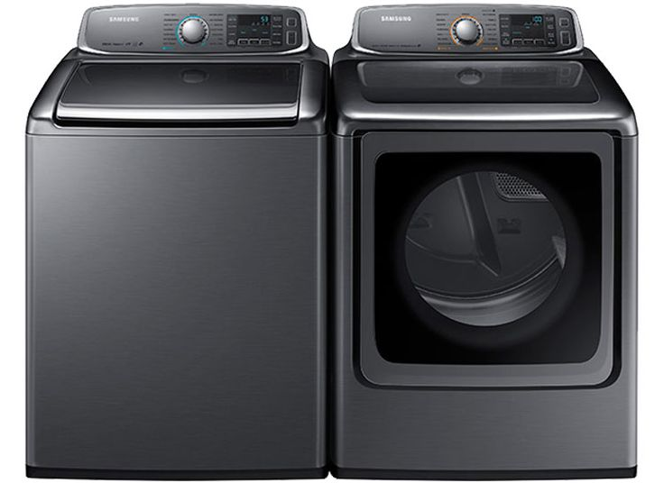 The Best Matching Washers and Dryers - Consumer Reports Samsung WA52J8700AP HE top-loader and Samsung DV52J8700EP electric dryer Price: $850 each