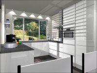 visual 2 - U-Keuken 265x275x307cm, keukenmeubelen, 5 inbouwapparaten, composiet werkblad