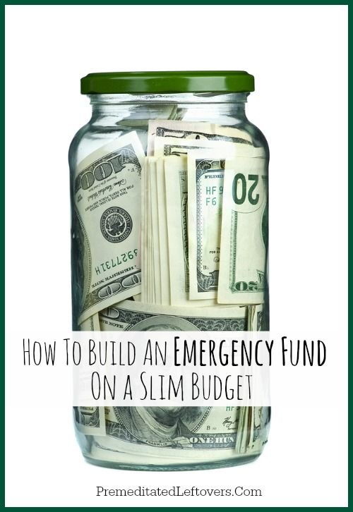 How to build an emergency fund on a slim budget
