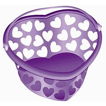 Purple Heart Heart Pale For Clothes Pins