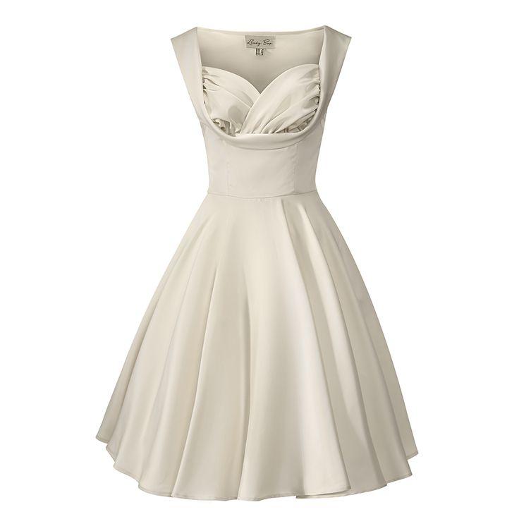 Octavia Ivory Swing Occasion Dress   Vintage Style Dresses - Lindy Bop