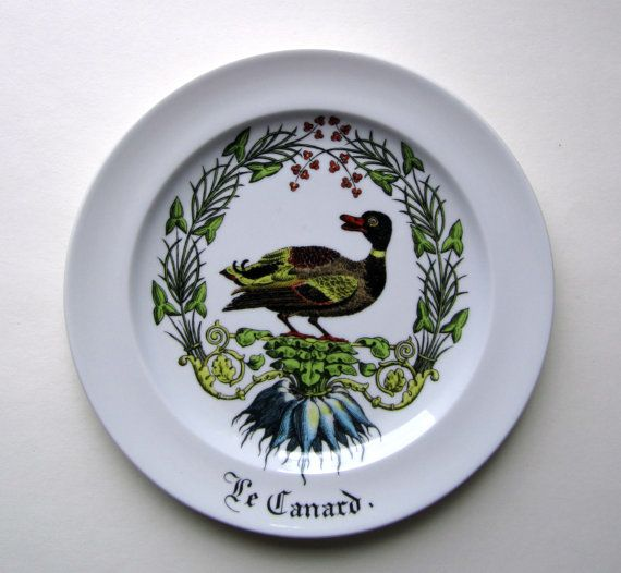 Giraud Limoges Porcelaine d'Auteuil Plate  Les by HookundHand