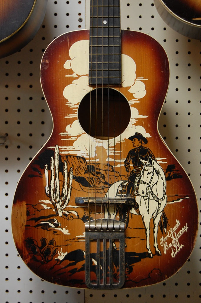 vintage cowboy guitar dog - photo #1