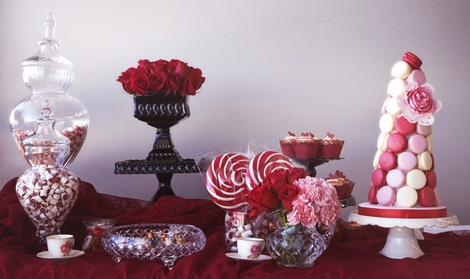 Christening candy buffet by Polka Dot Cookies