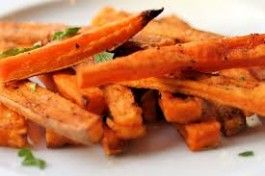 Sweet Potato Fries with Red Pepper Infused Olive Oil-- Antioxidant rich energy boost!