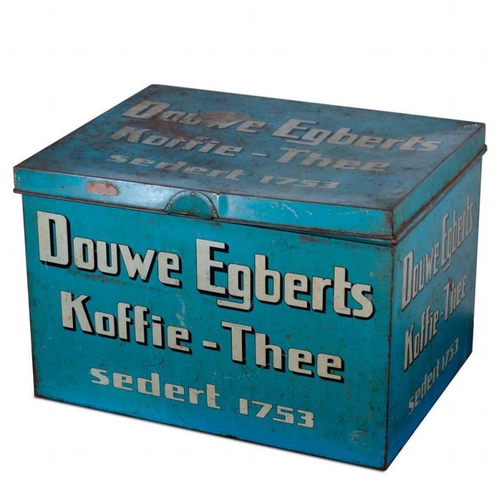 Rare Large Tin 'Coffee - Tea' by famous Dutch 'Douwe Ebgerts'
