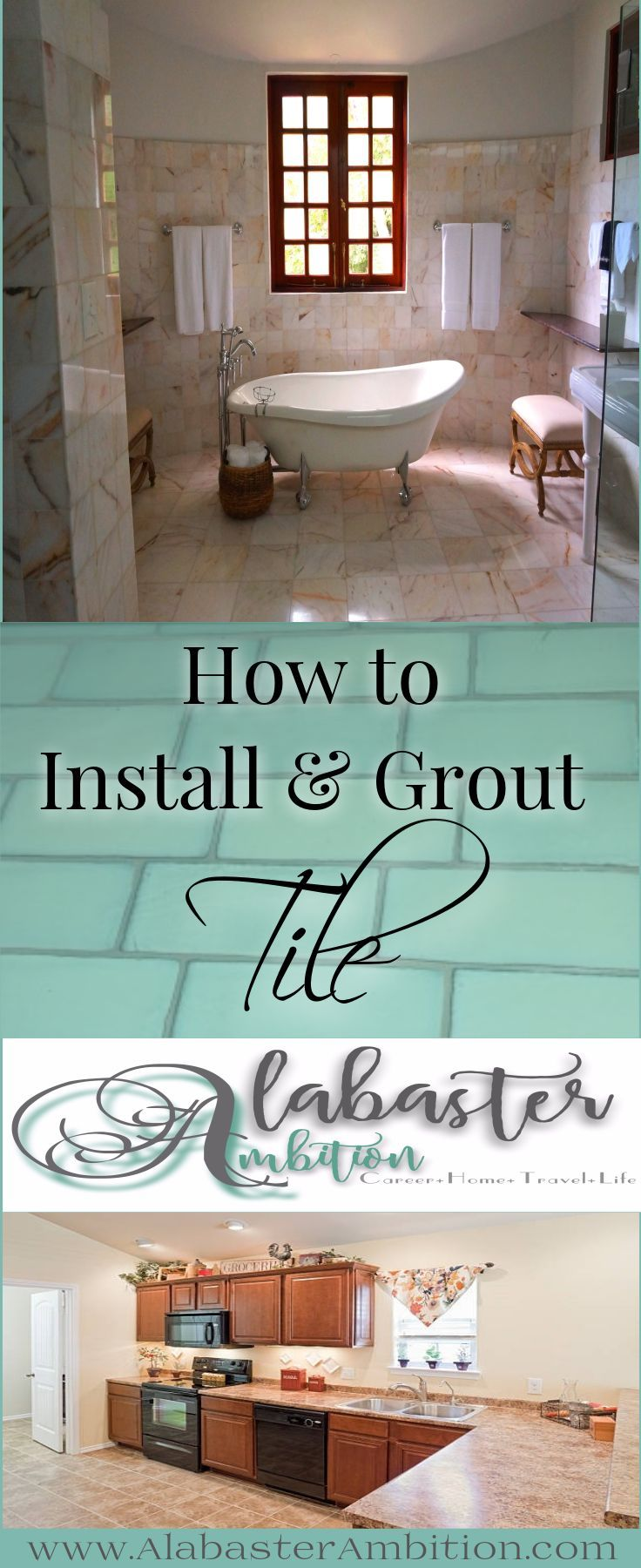 DIY Tile Installation- How to Install and Grout Tile   Bedroom ...