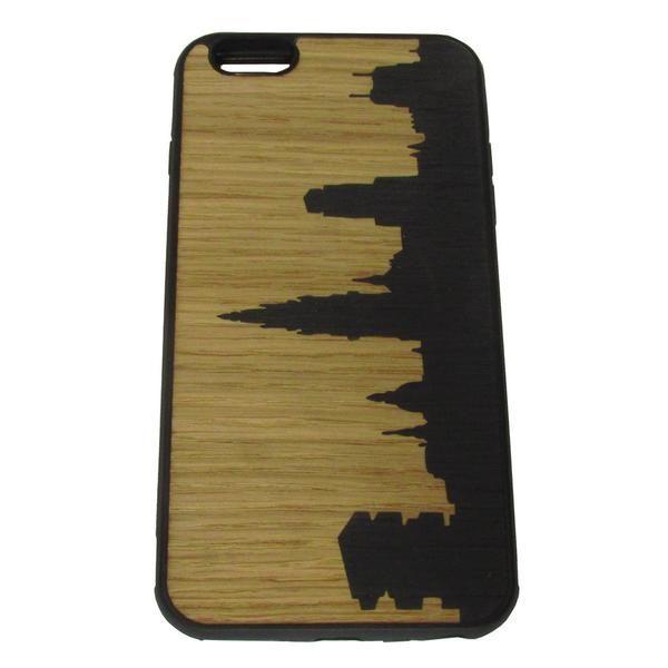 Bastaard made in Antwerp Skyline Antwerpen Wooden Inlay Phone Smartphone hoesjes Iphone6plus iP6plus case Houten