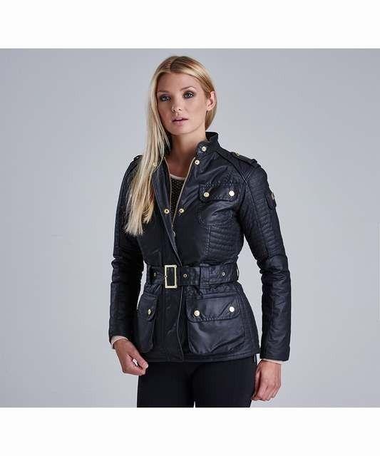 Barbour Ladies Women's International Vanier Waxed Jacket Black International Collection [Barbour 66667921 jacket £159] Barbourartianosharma.com