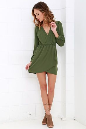 17 Best ideas about Green Long Sleeve Dress on Pinterest | Elegant ...