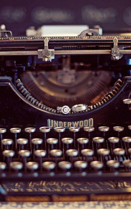 Giant Underwood Console Typewriter http://www.stylemepretty.com/gallery/photo/135127