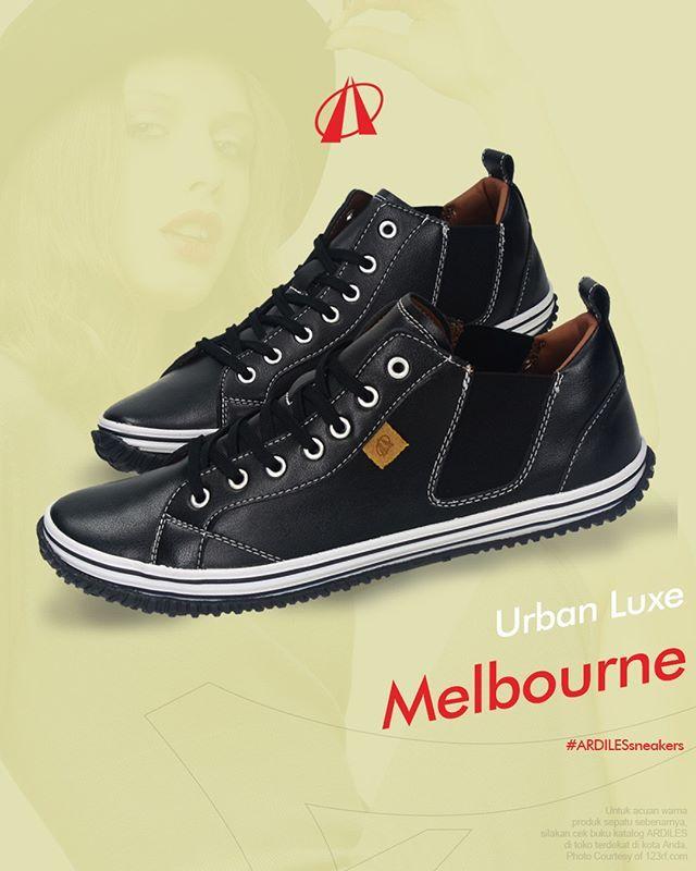 Urban Luxe  Ardiles Sneakers Lovers, pengaruh tren fashion kantoran belakangan ini membawa kita pada sneakers sporty seperti Melbourne dari Ardiles Sneakers. Sneakers kasual ini cocok dengan business look dari pakaian berbahan ringan, contohnya katun, linen, atau summer wool. Ditambah satu hal lagi: desain simpel serta siluet yang minim dari sneakers Melbourne akan mampu membuat tampilan kamu di kantor tidak sekedar profesional, tapi juga fresh! Cek sneakers Melbourne di www.ardilesmetro.com…