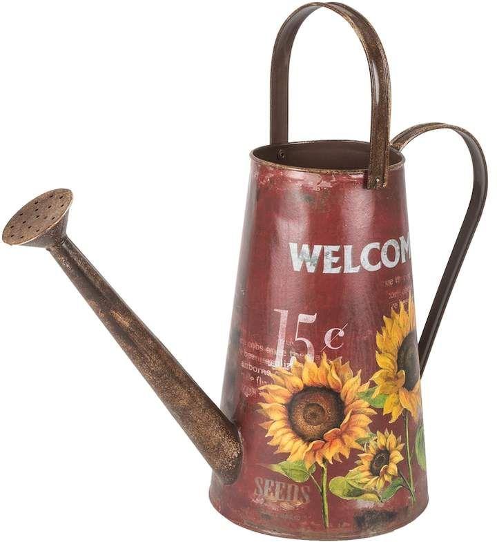 watering can / sunflower watering can / sunflower decor / Gerson Red Indoor / Outdoor Decorative Farmhouse Watering Can / Farmhouse decor / rustic water can  / rustic farmhouse decor / #ad