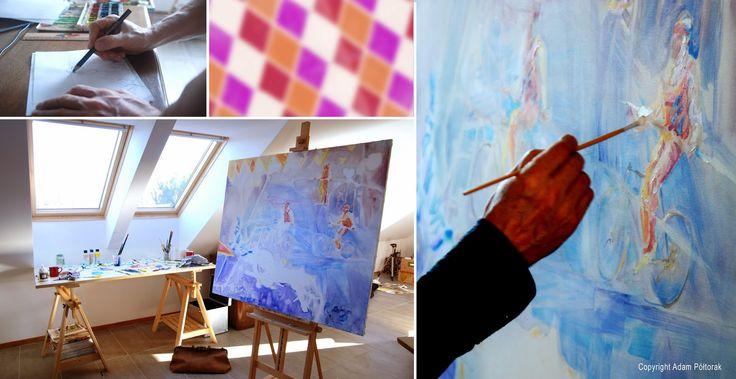 #AdamPoltorak #Circus No1 #painting