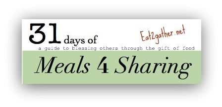 great site for recipes to share with other people!  this could take the thinking out of taking meals to others!