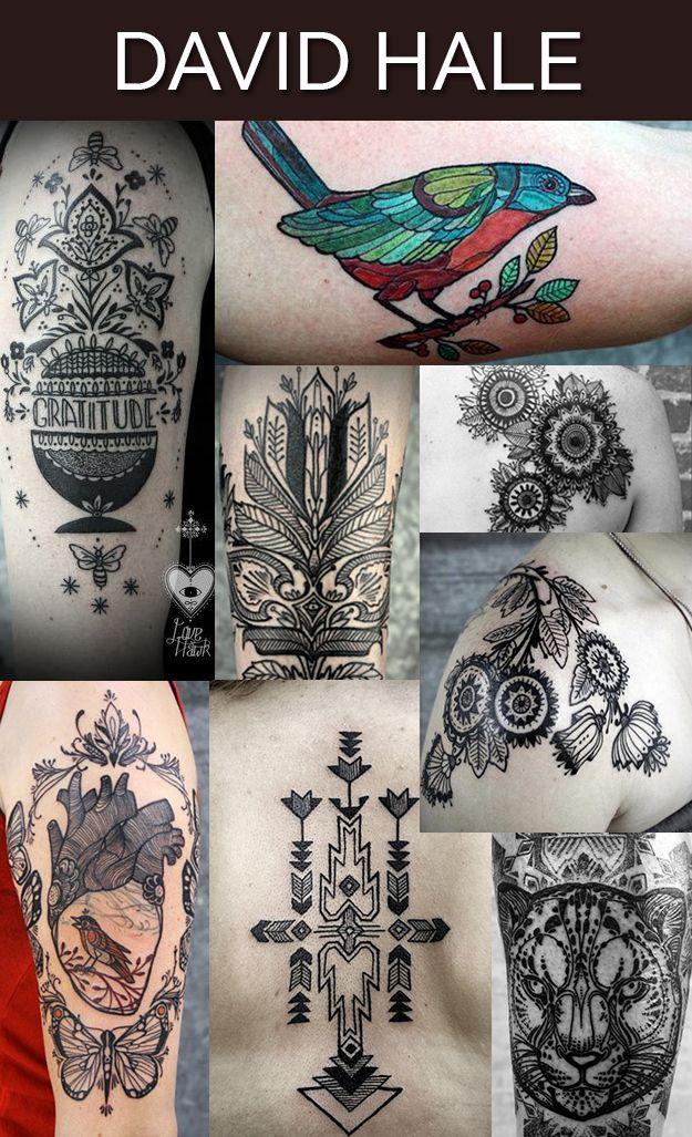 des tatouages de David Hale