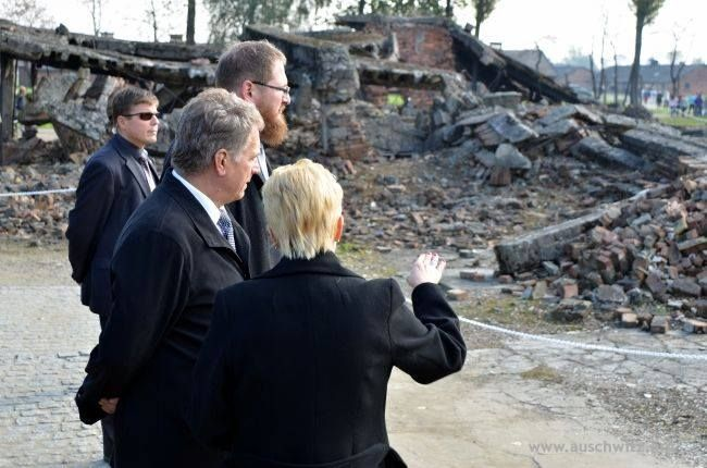 The president of Finland, Sauli Niinistö, visited the Auschwitz Memorial Site and Museum on 10 October. This visit was of a private nature. The honoured guest was greeted by the director of the Museum, Dr Piotr M.A. Cywiński.   More: http://en.auschwitz.org/m/index.php?option=com_content&task=view&id=1138&Itemid=7