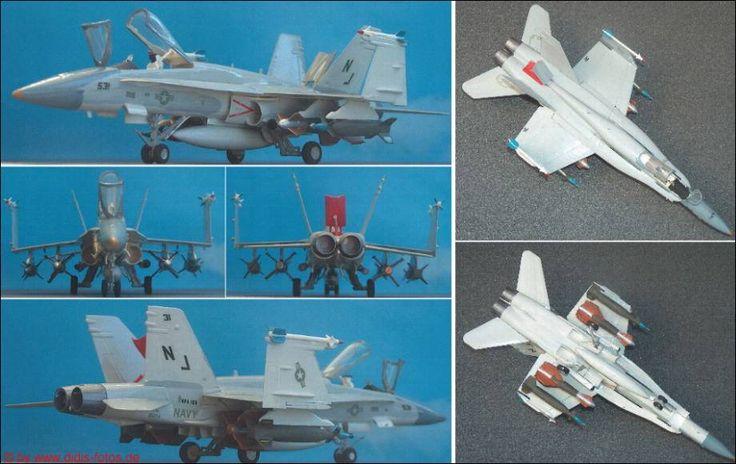 """McDonnell-Douglas/Northrop A/F-18 """"Hornet"""" (Esci 9001), zugerüstet mit Hasegawa-Waffensatz (Laserbomben) 1:72"""