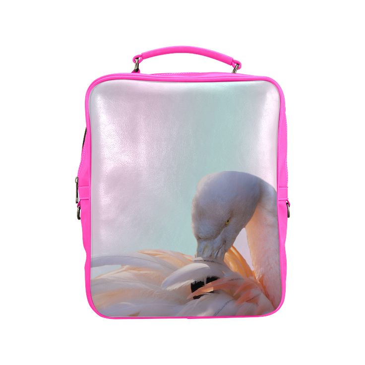 Flamingo Pink Mint Square Backpack. FREE Shipping. #artsadd #lbackpacks #flamingos