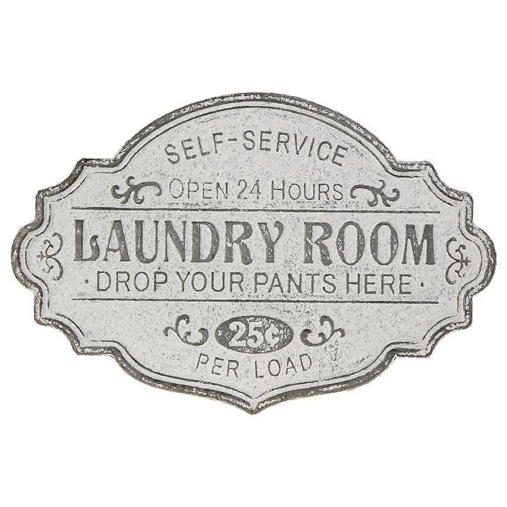 Embossed Galvanized Metal Laundry Sign All Vintage Inspired Signs Metal Signs Vintage Inspired Signs Laundry Room Signs