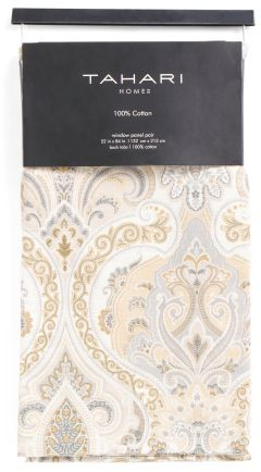 Set Of 2 Camden Paisley Curtains