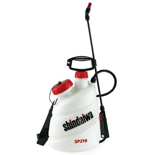 Shindaiwa Sprayer 2 Gallon - SP210 . $64.99. Our one-gallon SP150 and two-gallon SP210 hand-held sprayers are made of long-lasting, high-quality components. Ideal for home, garden, and many professional applications. UV protected polyethylene tank offers superior resistance to corrosion and the harmful rays of the sun Liquid levels in U.S. gallons, Imperial gallons, and liters. Viton chemically resistant seals Pump handle doubles as carrying handle Large, independent fil...