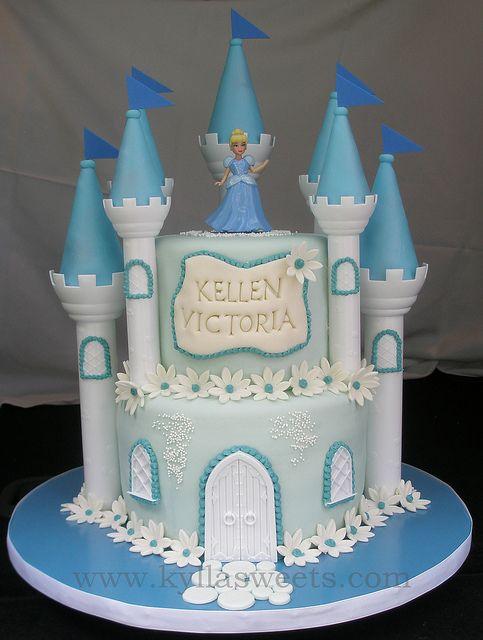 Cinderella castle cake by Kylla'sweets, via Flickr