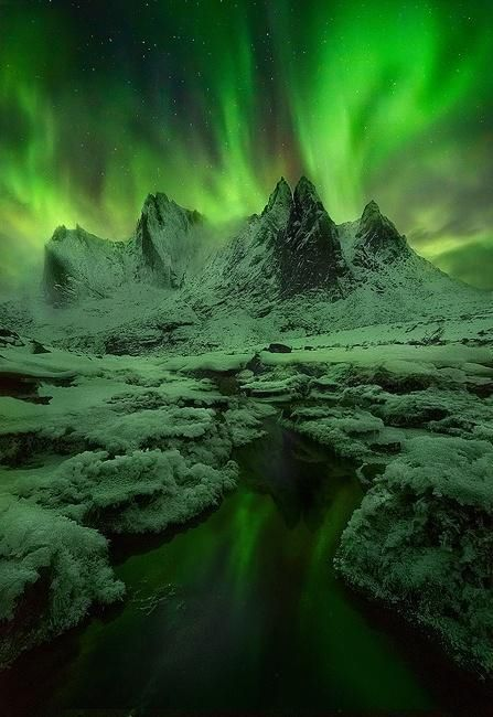 This is on the board because I'd love to go to Green mist, aurora, Greenland…