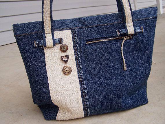 CUSTOM for Melissa recycled denim purse shoulder bag from