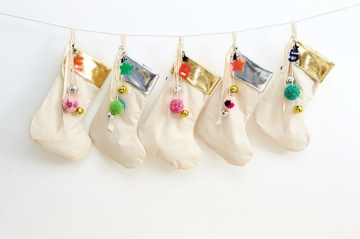 Image of Silver Christmas Stocking