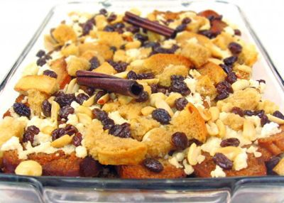 Traditional Easter Foods Capirotada Mexican Bread Pudding