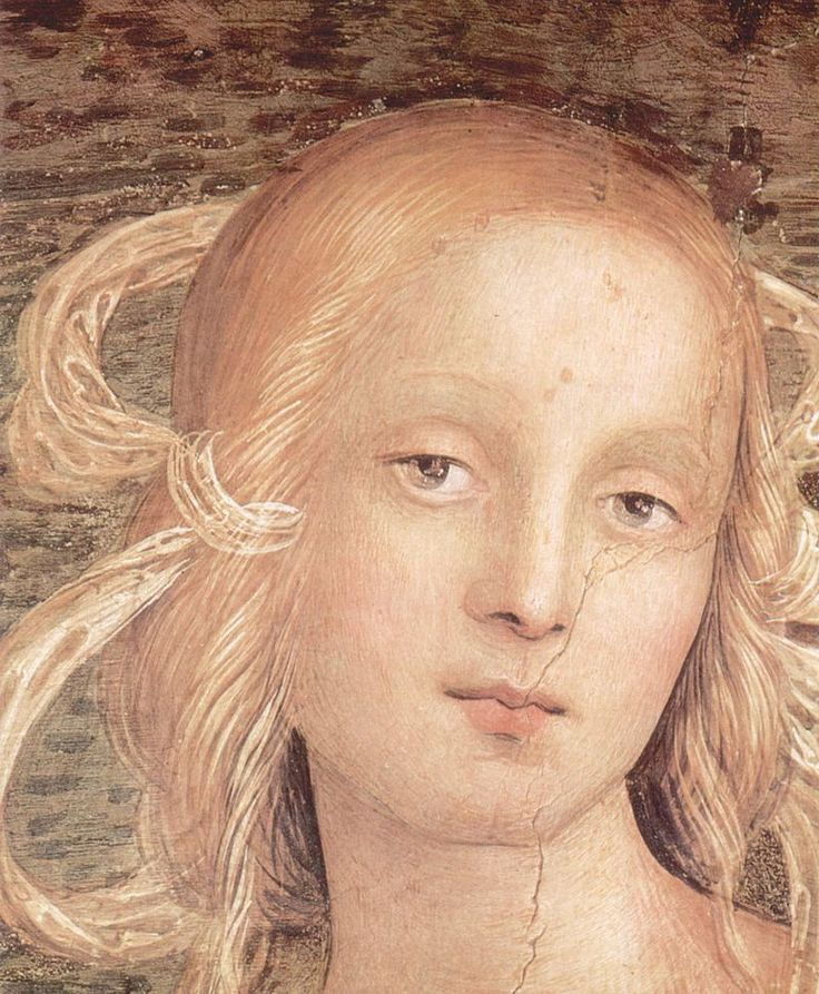 Pietro Perugino - Detail, Prophets and Sibyls, fresco