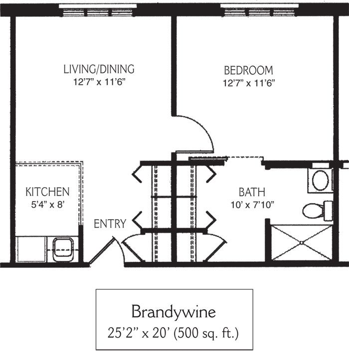 500 square foot house plans view floor plan brandywine for 500 square feet floor plan