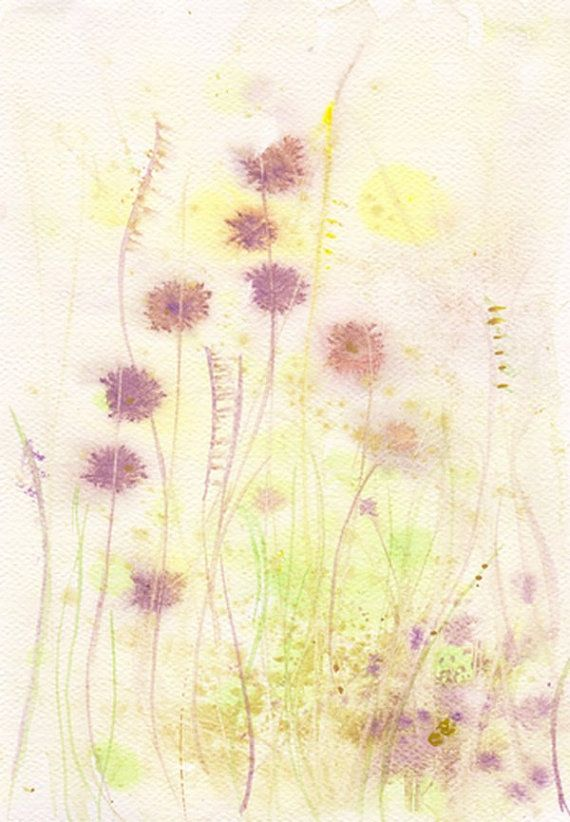 Art Painting Original watercolor flower 8x11, floral decor