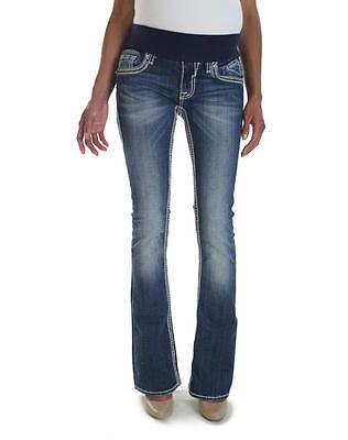 Vigoss Maternity Jeans Stretch Heavy Stitch Bootcut Dark Size 27 ...