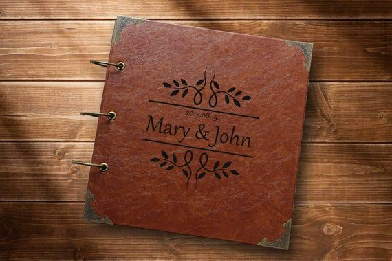 A4 LEATHER Personalised PHOTO BOOK Scrapbook Album CUSTOM YOUR Images Memories