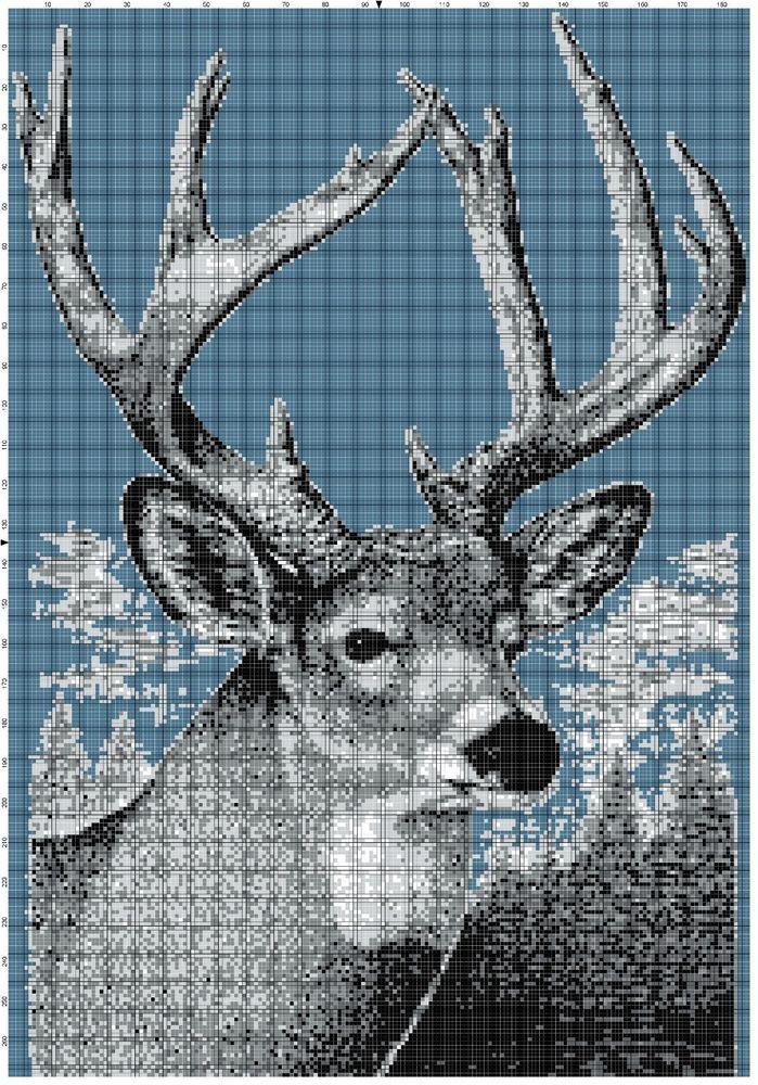 Deer Afghan Crochet Graph Pattern By Alta's Crafts #AltasCrafts